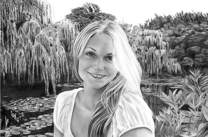 Elisabeth au jardin de Monet